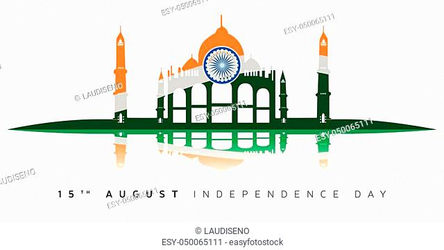 Happy indian independence day graphic design, Vector illustration