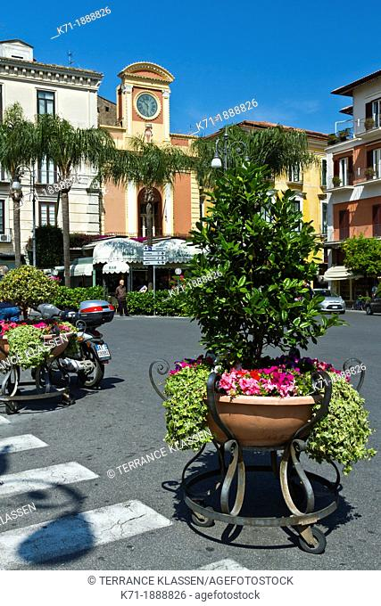 Streets and buildings in Sorrento, Campania, Italy