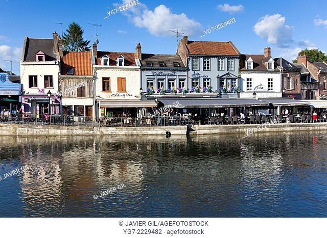 Saint Leu neighbourhood in Amiens, Somme, Picardy, France