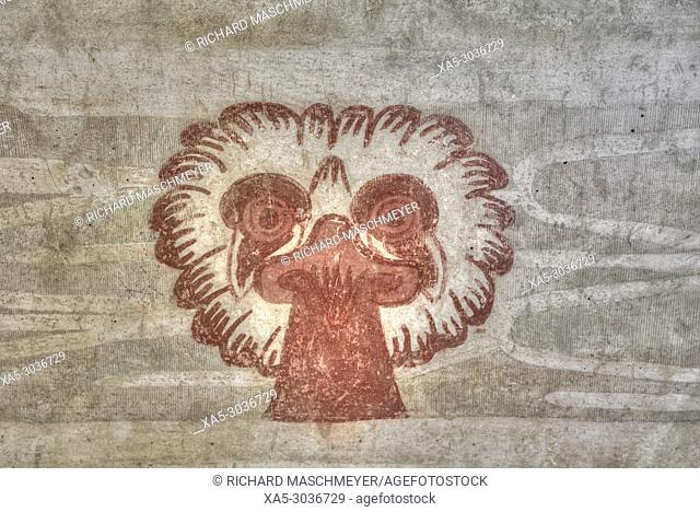 Wall Mural of Eagle, Palace of Tetitla, Teotihuacan Archaeological Zone, State of Mexico, Mexico