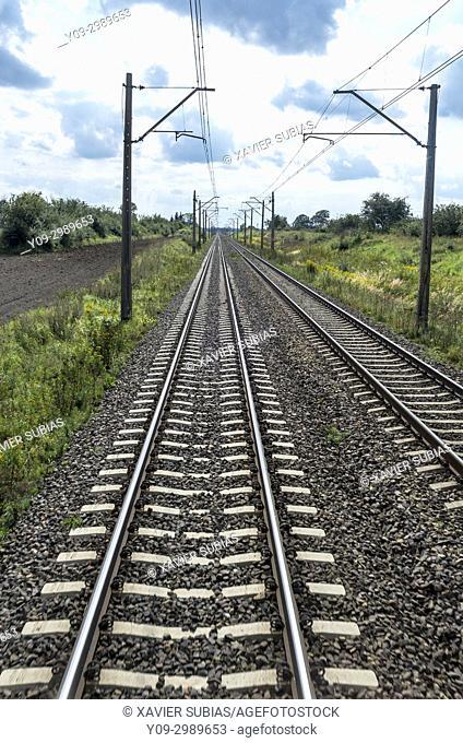 Train tracks, Poland