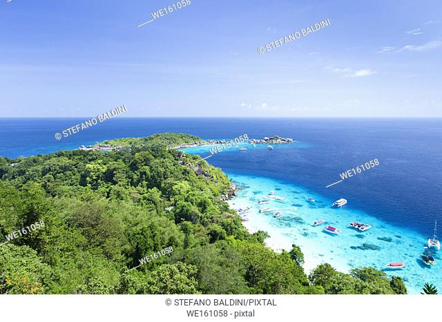 View of Ko Miang or island Nr. 4, Mu Ko Similan national park, Phang Nga province, Thailand