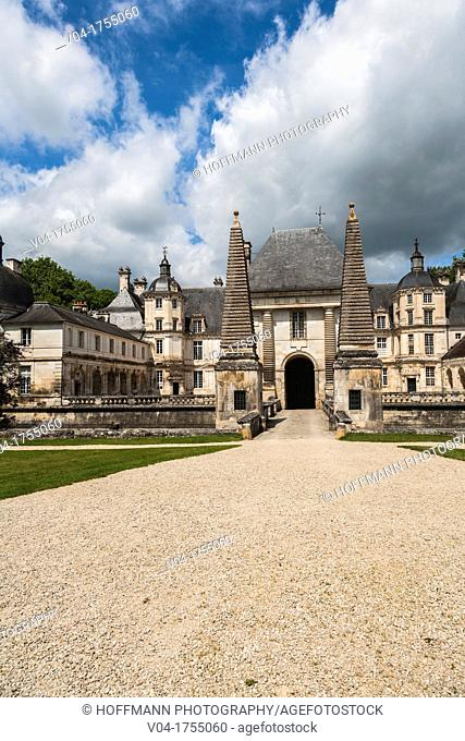 The picturesque castle of Tanlay, Burgundy, France, Europe