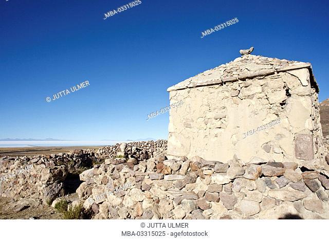 Bolivia, Salar de Uyuni, Tahua, church