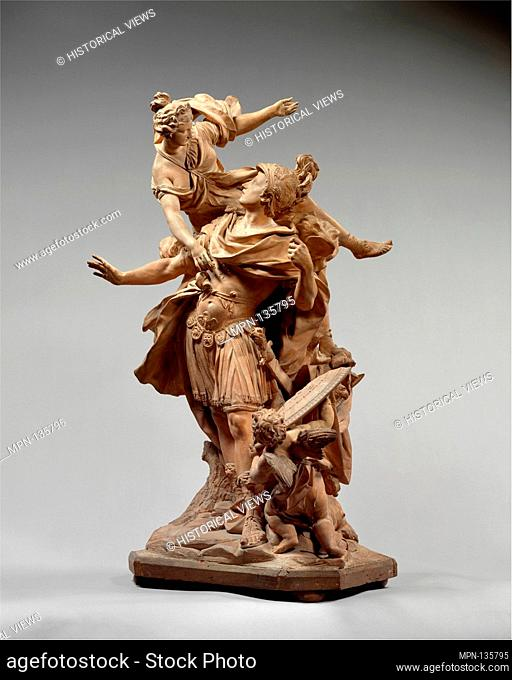 Venus Giving Arms to Aeneas. Artist: Jean Cornu (French, Paris 1650-1710 Lisieux); Date: 1704; Culture: French, Paris; Medium: Terracotta and painted wood;...