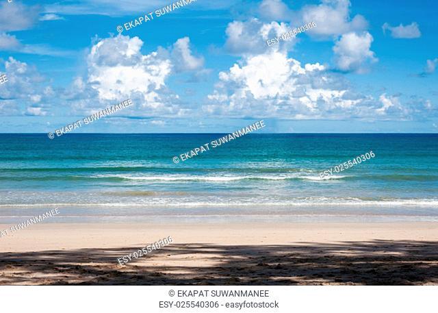 Beautiful nature and beautiful of sea and beach