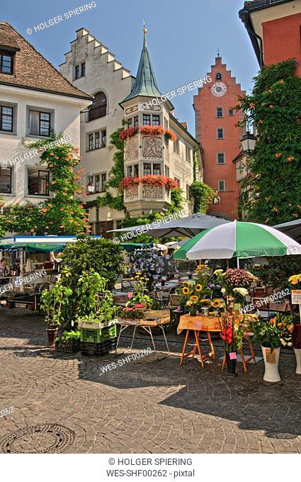 Germany, Baden-Württemberg, Meersburg, Flower market