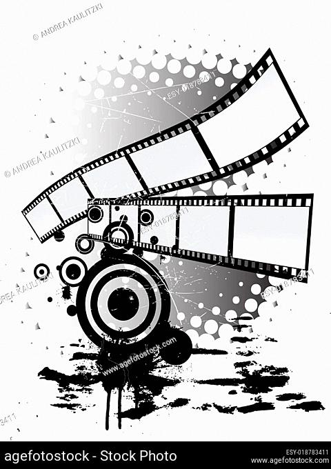 filmstripes - grunge style