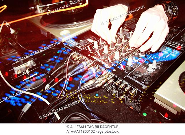 DJ at the mixing desk