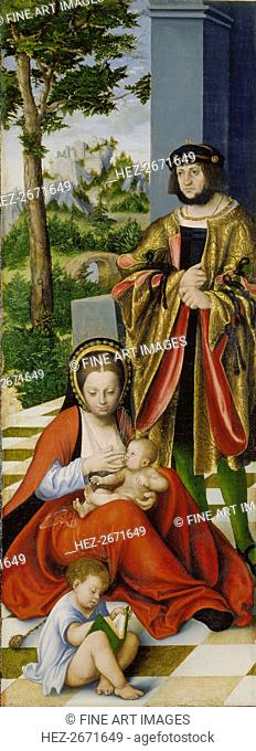 The Altarpiece of the Holy Kinship (left wing), 1509
