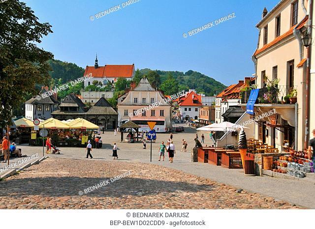 Market Square in Kazimierz Dolny, Lublin Voivodeship, Poland