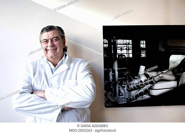 The professor and world famous plastic surgeon Marco Gasparotti posing for a photocall shooted at his medical practice. Rome (Italy), December 2014