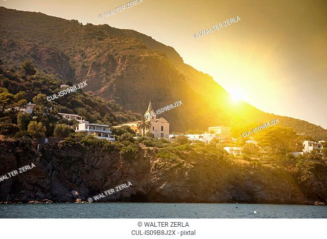 Coastal town, Panarea, Messina, Italy