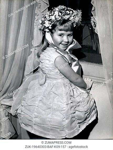 Mar. 03, 1964 - Easter Bonnet for a six-year-old. One of the items shown in the Spring Collection by Madame Vernier in London yesterday