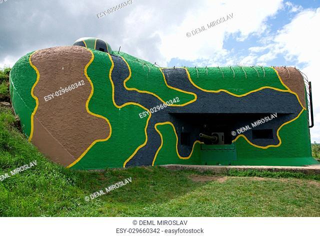 CZ, bunker Garten from II. world war in the South Moravia near Satov, Czech republic