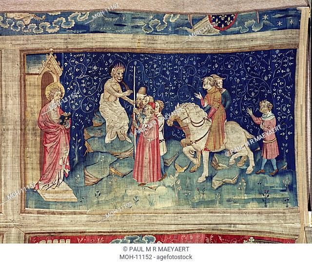 La Tenture de l'Apocalypse d'Angers, Le chiffre de la Bête 1,54 x 2,64m, Der Name des Tieres