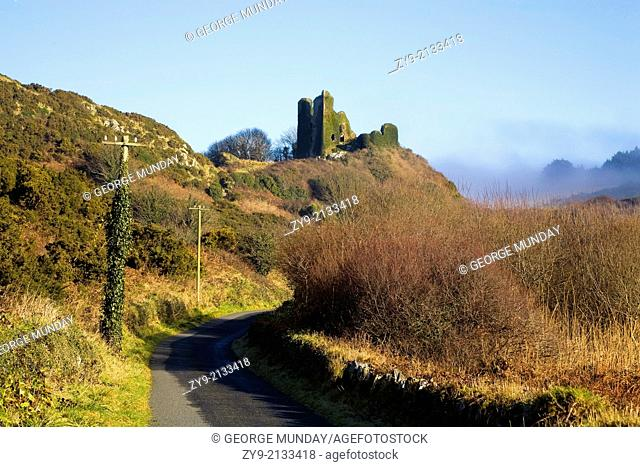 Dunhill Castle, The Copper Coast Geopark, County Waterford, Ireland