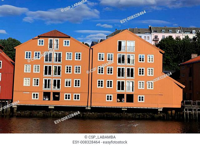 Famous Old Storehouses in Trondheim