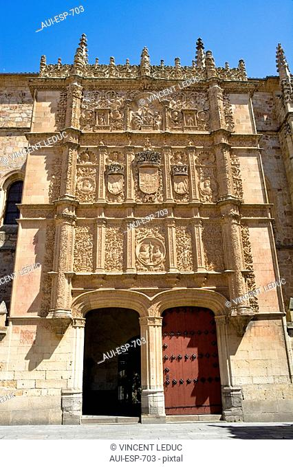Spain - Castile and Leon - Salamanca - Faþade of the University