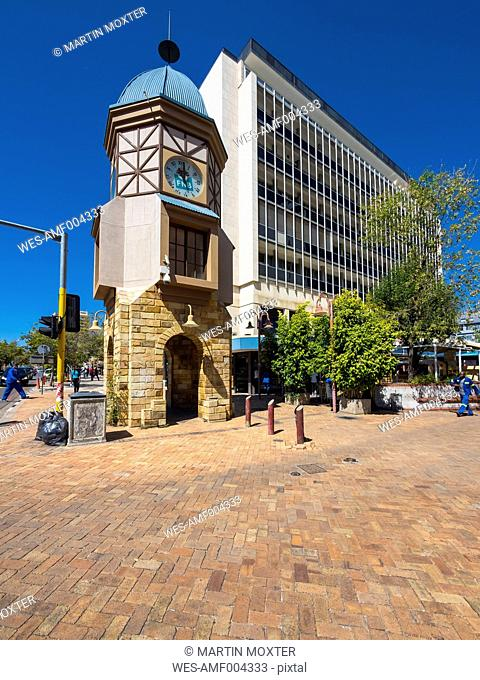 Namibia, Windhoek, Bell tower at Independence Avenue