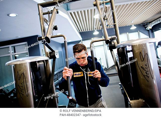 German IBF middleweight world champion Felix Sturm trains in his gym in Cologne, Germany, 07 May 2014. Sturm will defend his title against Australian boxer...