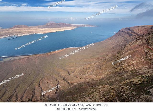 Mirador del rio famous touristic attraction in Lanzarote, Canary islands, Spain