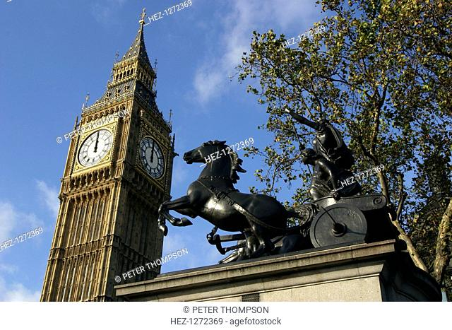 Big Ben stopped, Palace of Westminster, London, 2005
