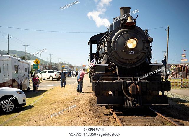 Oregon Coast Scenic Railroad in Rockaway Beach, Oregon, USA