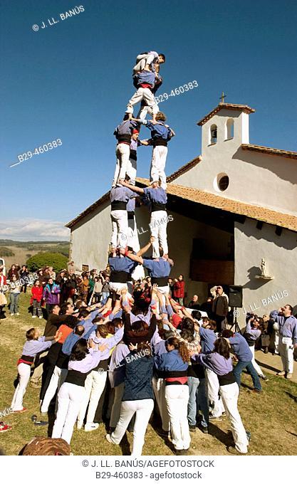 'Castellers' Catalan human tower builders