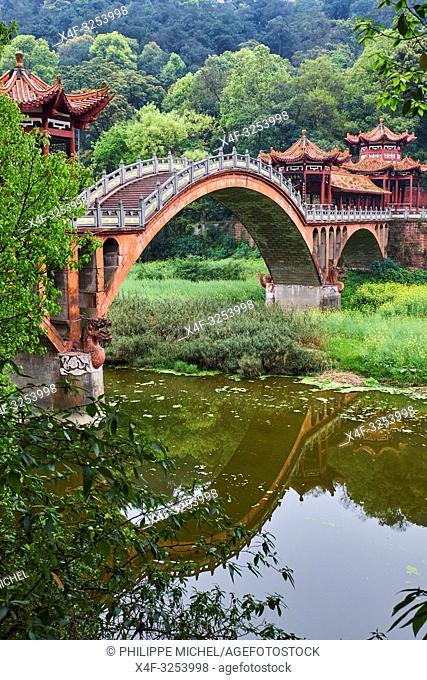 China, Sichuan province, Emei mount, Leshan, Huangshan bridge