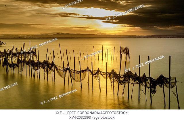 Long exposure shot at Gola de Pujol on Sunset, Albufera de Valencia, Spain