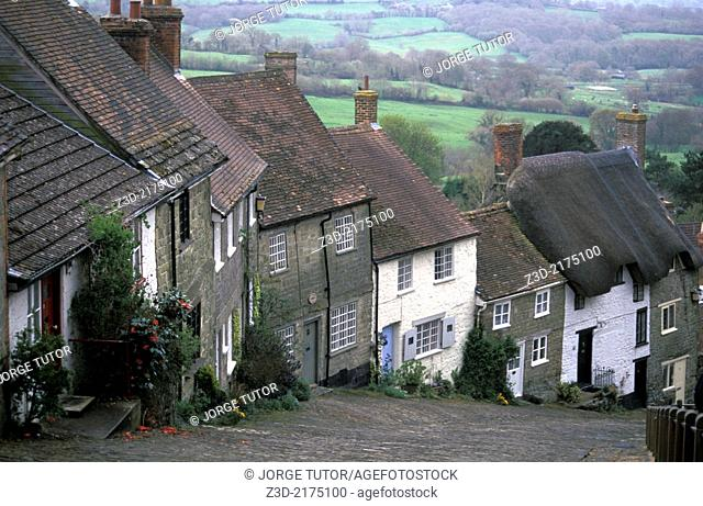 Gold Hill, Shaftesbury, England, UK
