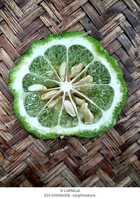 Fresh kaffir and leech lime