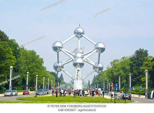 Atomium, Parc d'Osseghem, Laeken, Brussels, Belgium