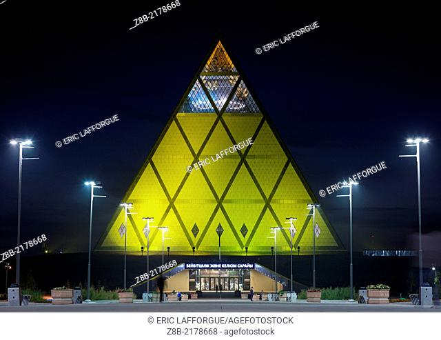 """Palace of Peace and Reconciliation (aka the Pyramid of Peace and Accord) in Astana. According to Foster and Partners """"""""as a non-denominational contemporary..."""