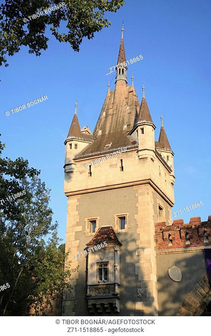 Hungary, Budapest, Vajdahunyad Castle