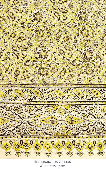 Closeup of persian carpet