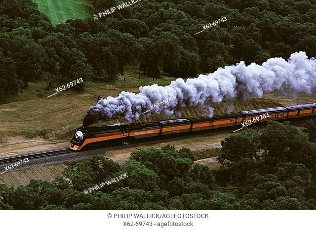 Southern Pacific vintage locomotive. USA