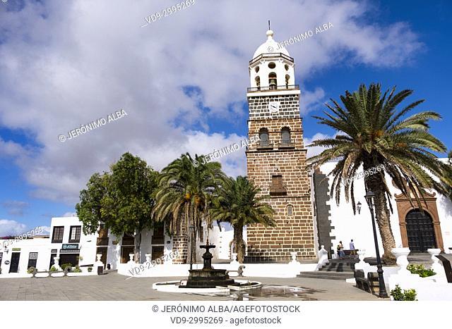 Church, Iglesia de Nuestra Senora de Guadalupe. Teguise, Lanzarote Island, Canary Islands. Spain Europe