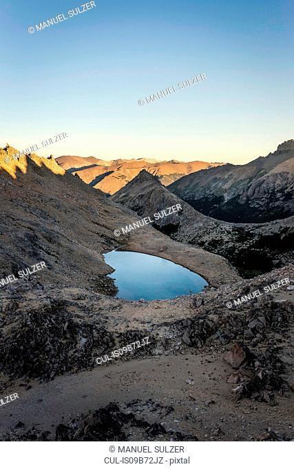 View of lake in Andes mountain range, Nahuel Huapi National Park, Rio Negro, Argentina