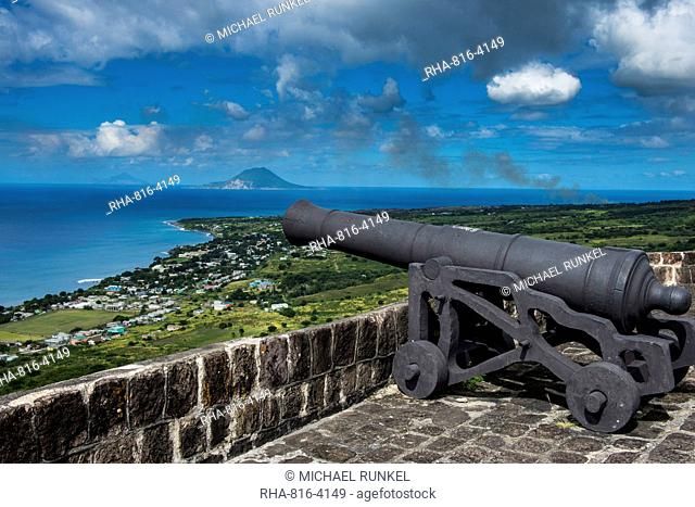 Brimstone Hill Fortress, UNESCO World Heritage Site, St. Kitts, St. Kitts and Nevis, Leeward Islands, West Indies, Caribbean, Central America