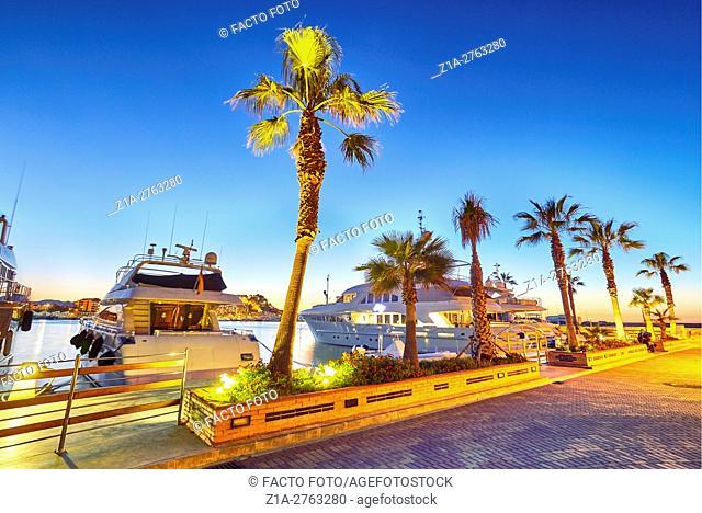 Yachting port. Denia. Alicante. Valencia community. Spain