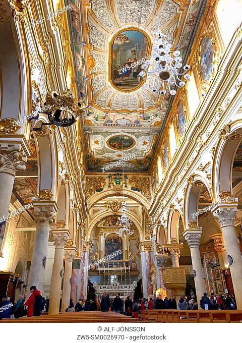 Interior in Matera Cathedral, Matera, Basilicata; Italy