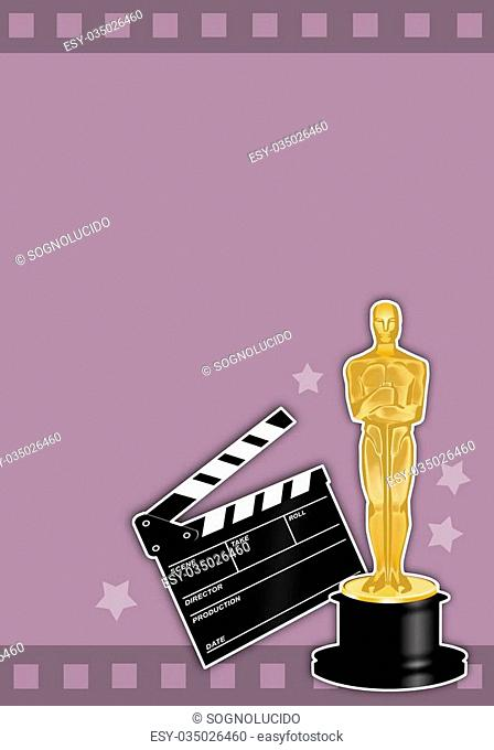 illustration of Oscars award