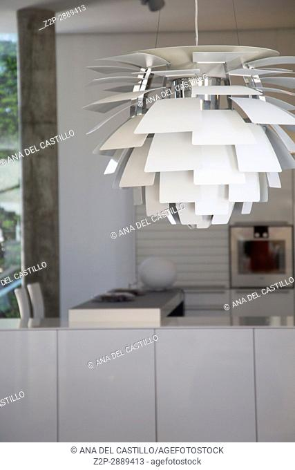 Modern lamp in kitchen