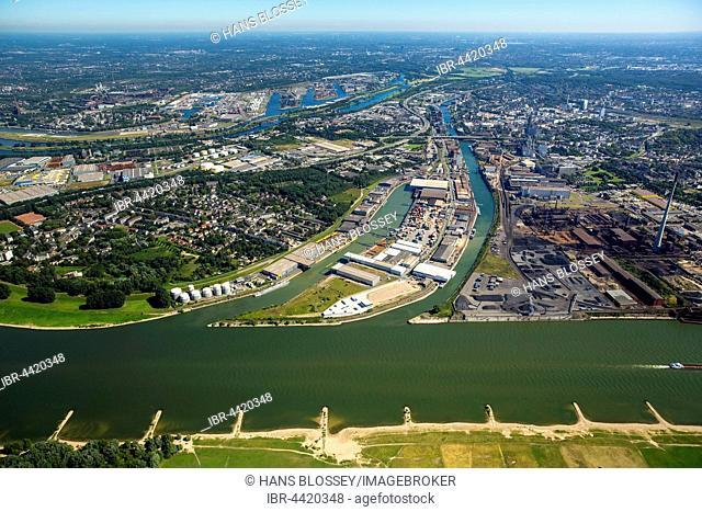 Parallel port, Duisburg-Hochfeld, Rhine, Duisburg, Ruhr district, North Rhine-Westphalia, Germany