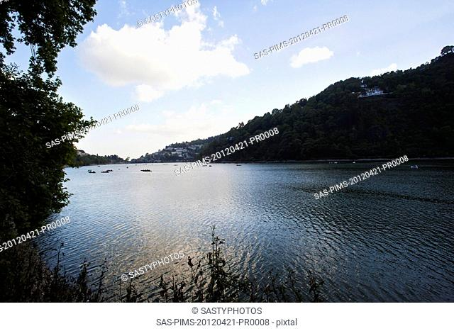 Clouds over a river, Nainital, Uttarakhand, India, Asia