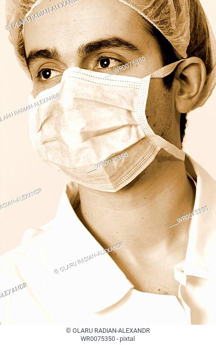 Professional young doctor at work
