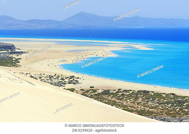 Sotavento Beach, Jandia Peninsula, Fuerteventura, Canary Islands, Spain
