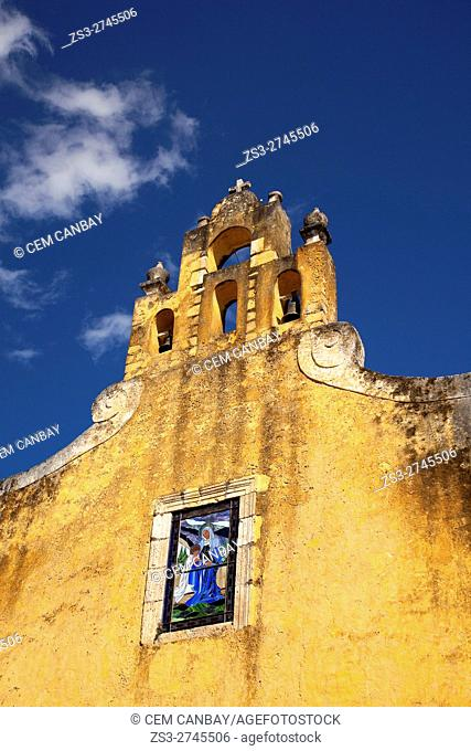Detail shoot of the Santa Ana church in the town center, Valladolid, Yucatan Province, Mexico, Central America